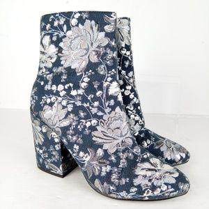 Merona Designer Ankle Boots Women Size 7.5 Blue